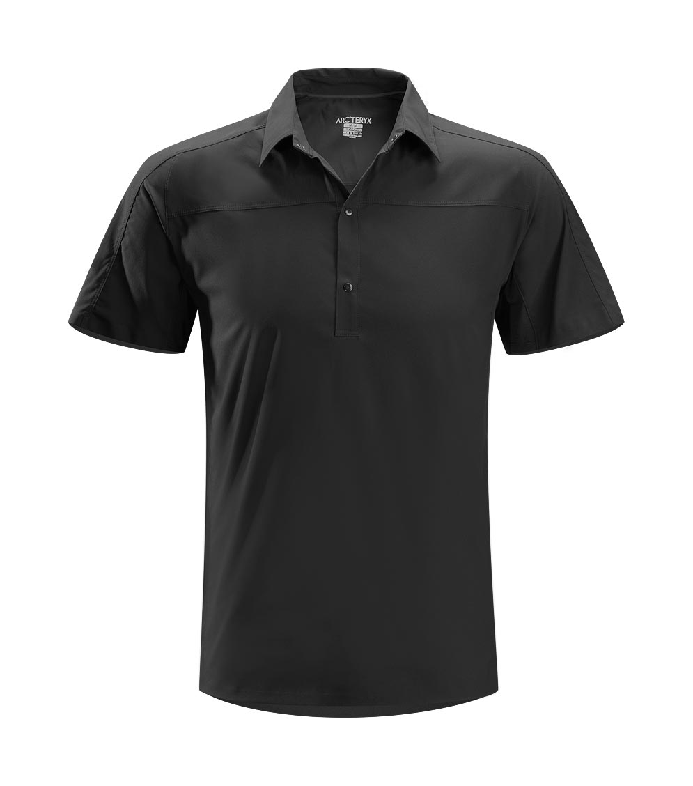 Arcteryx Black Adventus Comp Polo SS - New
